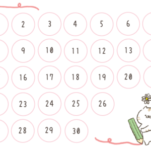 ご褒美シール台紙無料ダウンロード♪手作りのかわいいカレンダータイプやがんばりカードにも☆